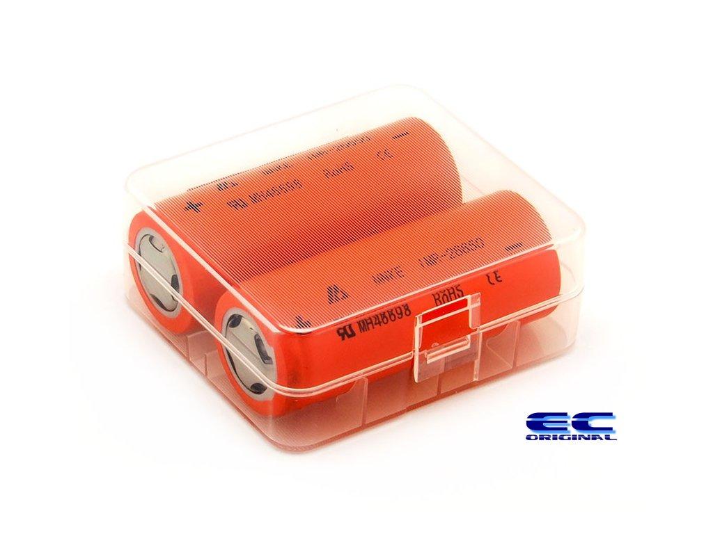 Pouzdro na baterie 2x26650 - Průhledné