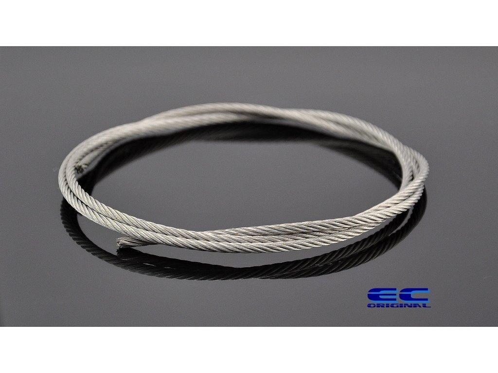 Ocelové lanko nerezová ocel - Stainless Steel Wire Rope 7x19 / 1,5mm