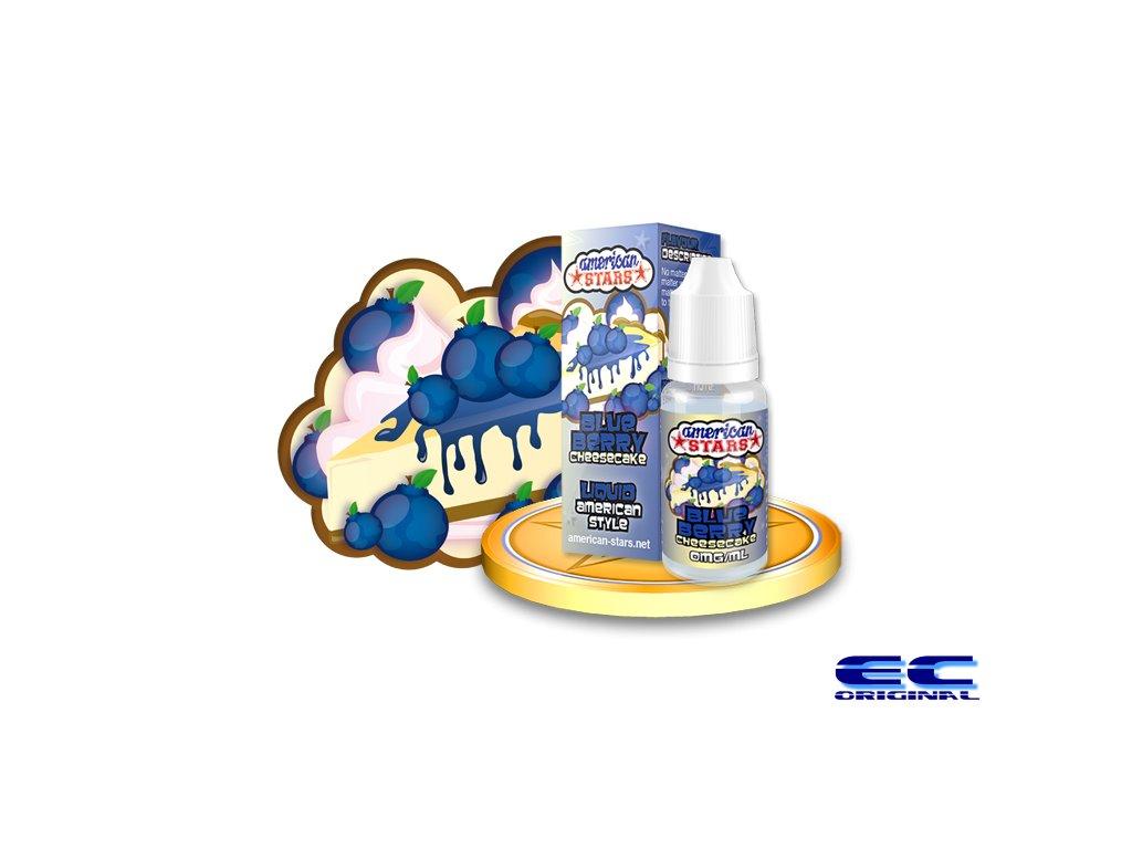 E-liquid American Stars 10ml - Blueberry Cheesecake