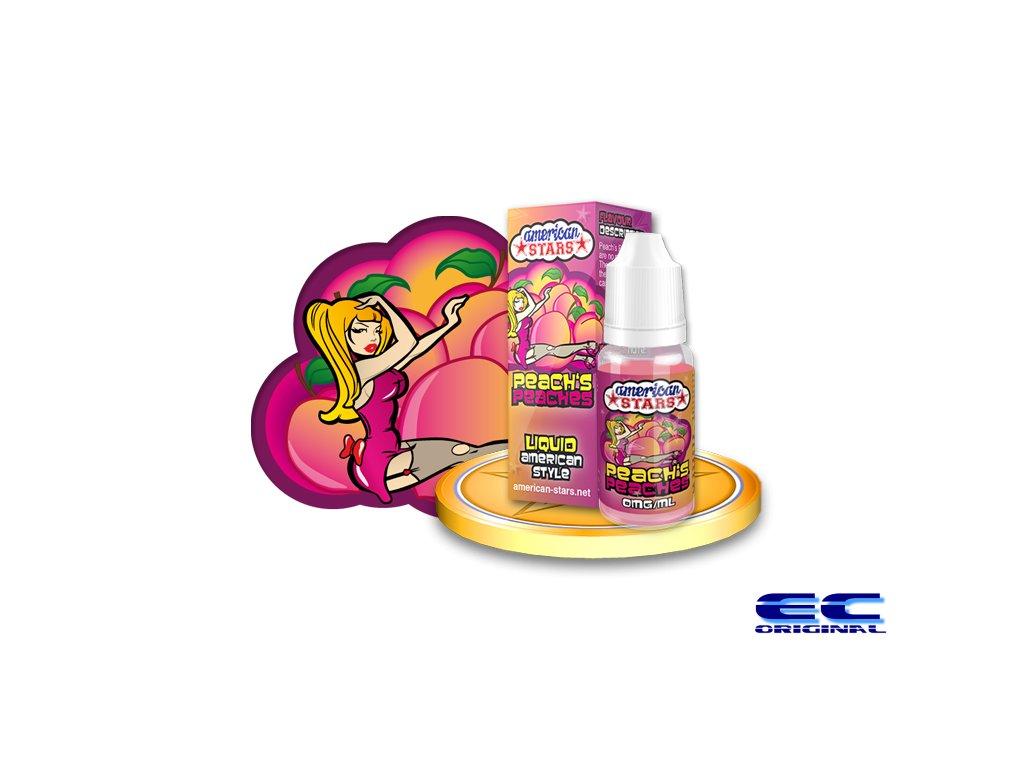 E-liquid American Stars 10ml - Peach's Peaches