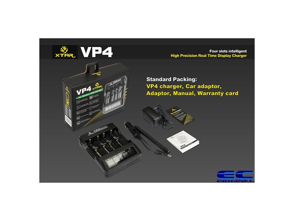 Xtar VP4 Digital Inteligent - nabíječka pro Li-ion / Li-Mn baterie