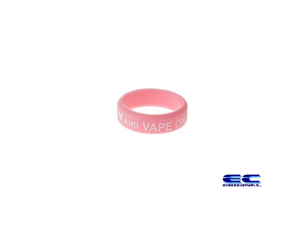 Dekorativní kroužek velký ( keep calm and vape on ) Pink+W