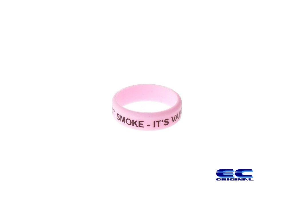 Dekorativní kroužek velký ( It´s not smoke It´s vapor  ) Pink