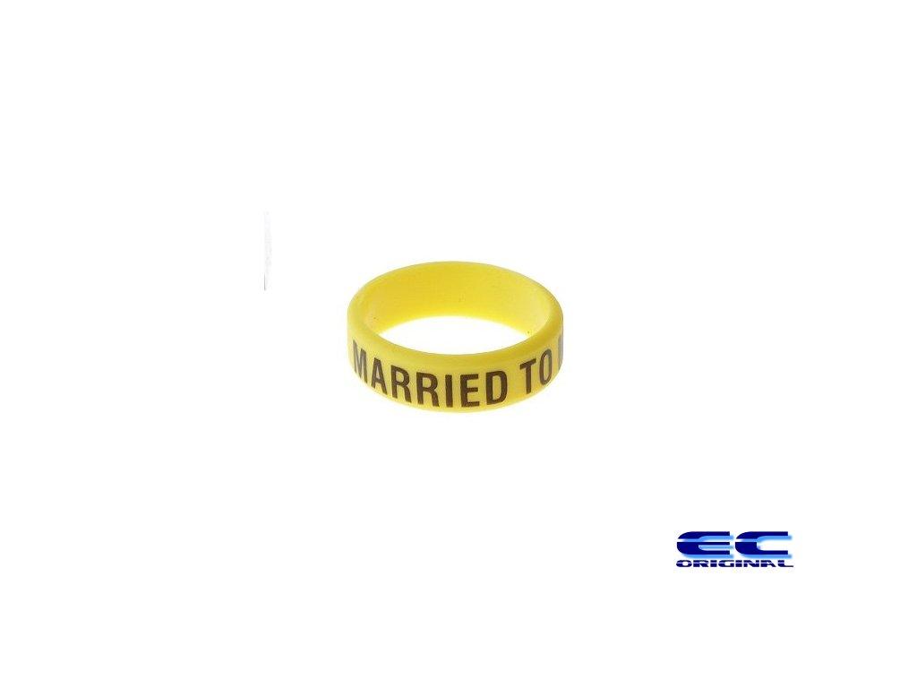 Dekorativní kroužek velký ( married to my mod ) Yellow