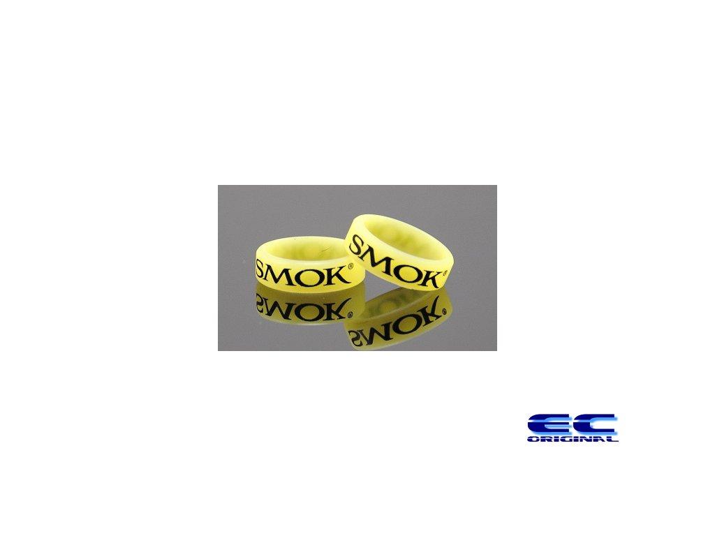 Dekorativní kroužek velký SMOK žlutý Lumino
