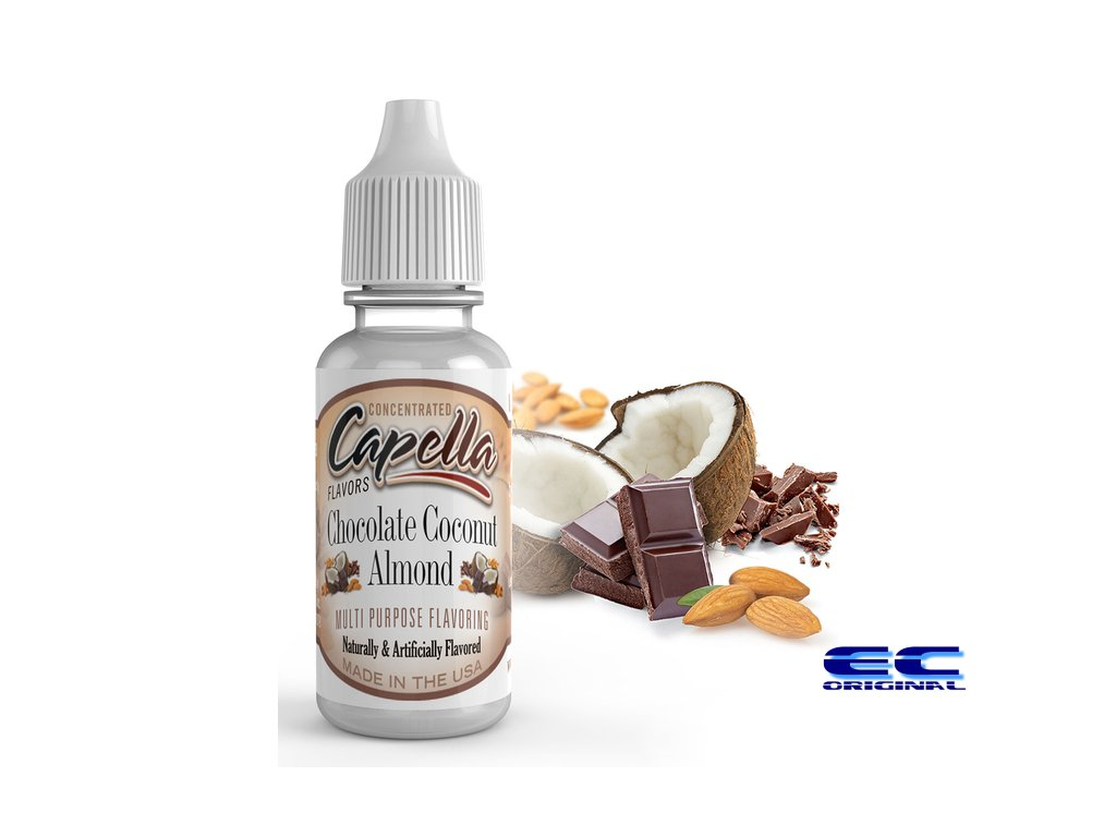 Čokoláda,kokos a mandle (Chocolate Coco Almond) - Příchuť Capella Flavors