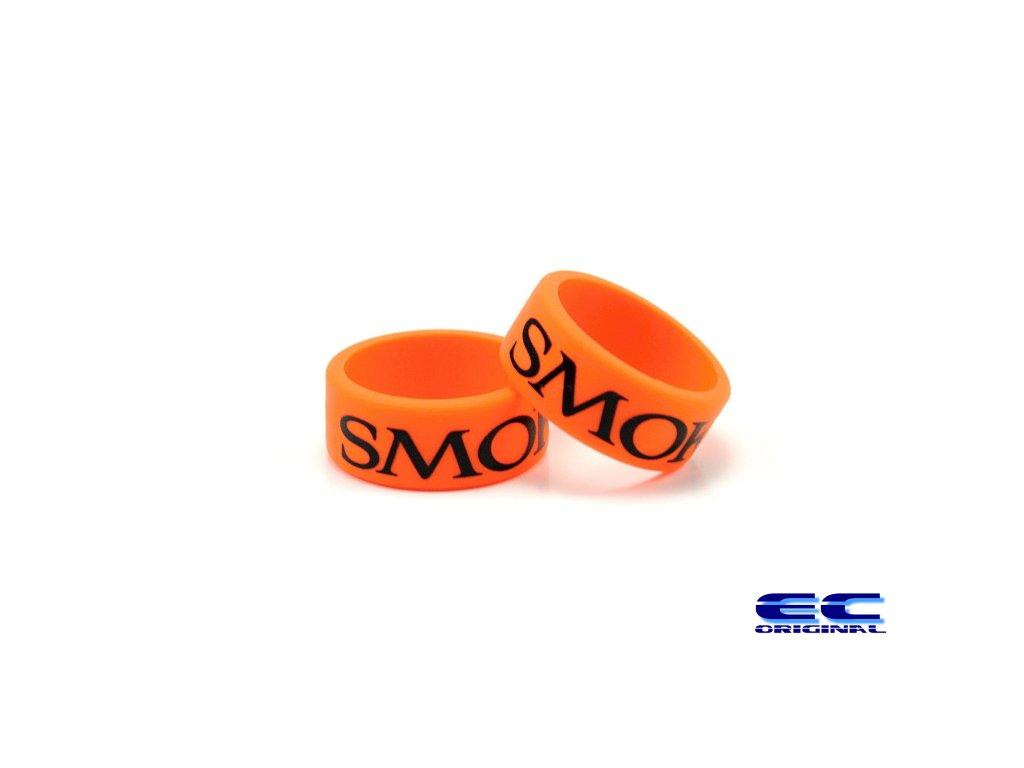 Dekorativní kroužek velký SMOK oranžový