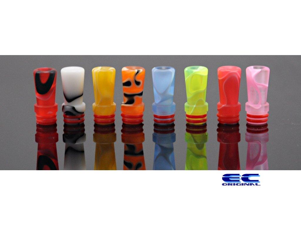 RESIN náustek 510 - 23mm - 9 barev žíhané