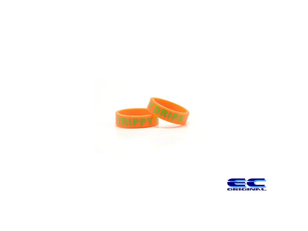 Dekorativní kroužek velký 22mm ( trippy drips ) ORANGE
