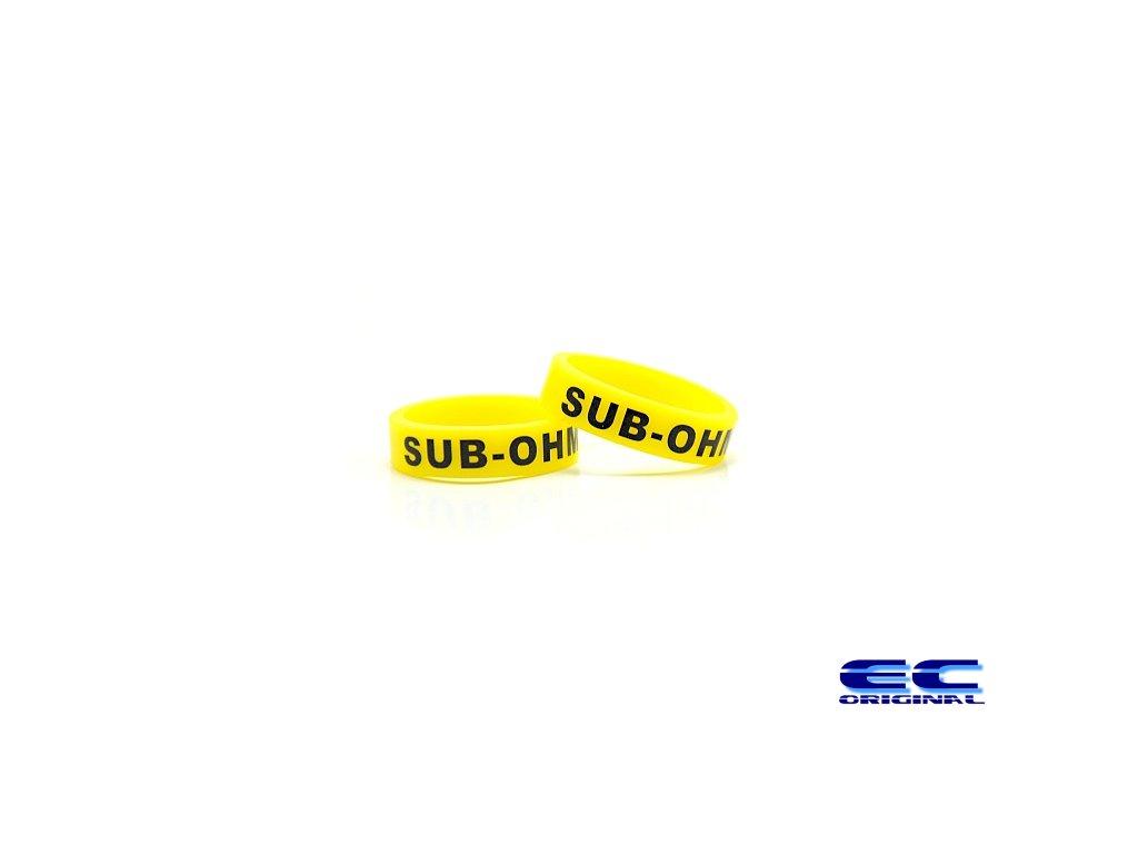 Dekorativní kroužek velký 22mm ( sub-ohm ) yellow