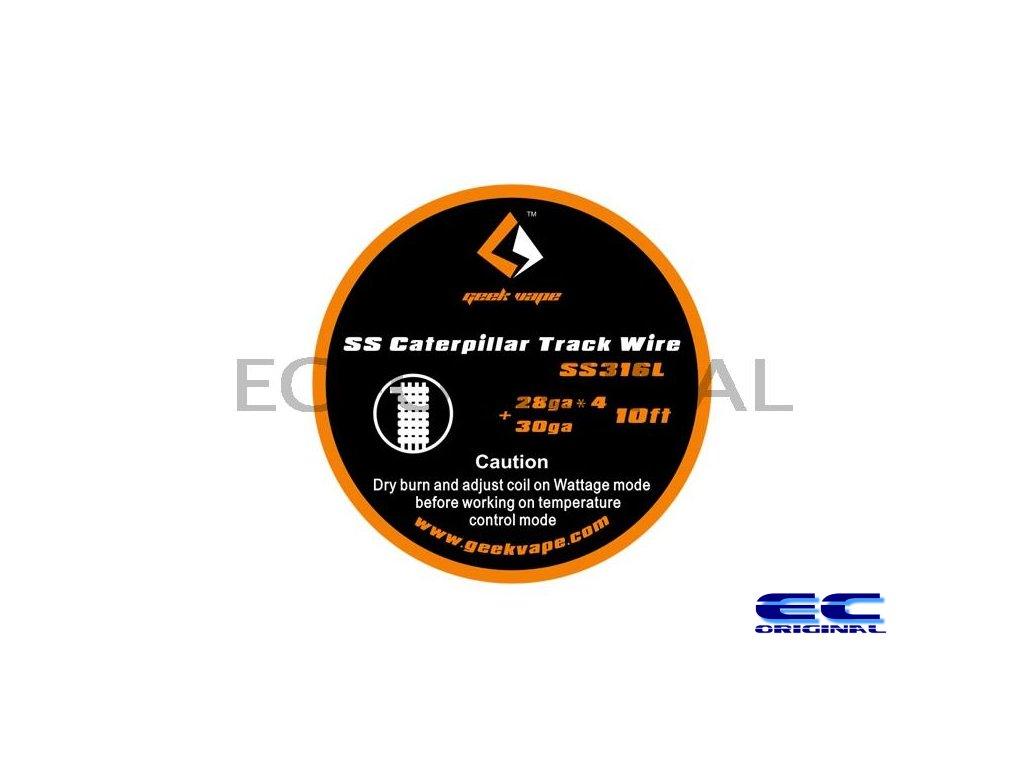 GeekVape SS Caterpillar Track Wire 10ft - 4x28GA/30GA