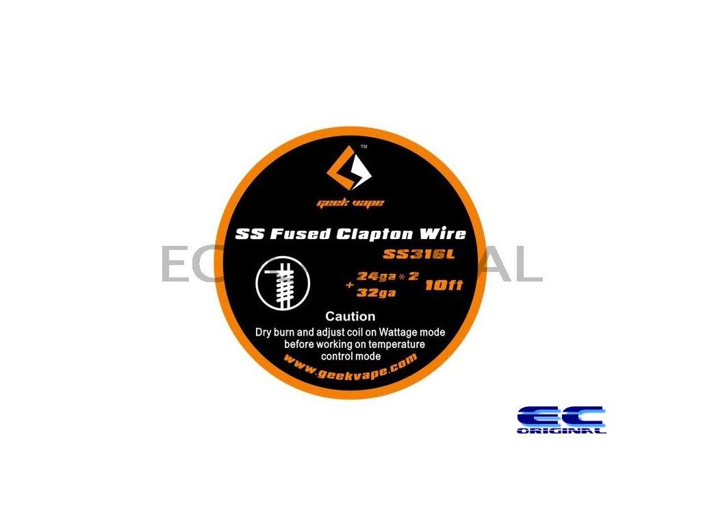 GeekVape SS Fused Clapton Wire 10ft - 2 x (24GA) + 32GA