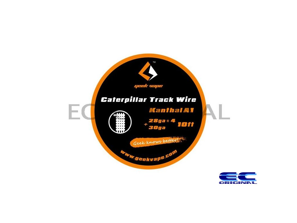 GeekVape Kanthal A1 Caterpillar Track Wire 10ft - 28GAx4 + 30GA