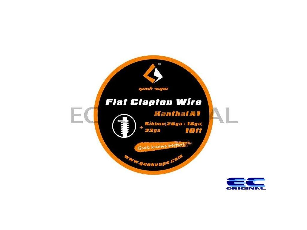 GeekVape Kanthal A1 Flat Clapton Wire 10ft - Ribbon (26GA+18GA) + 32GA