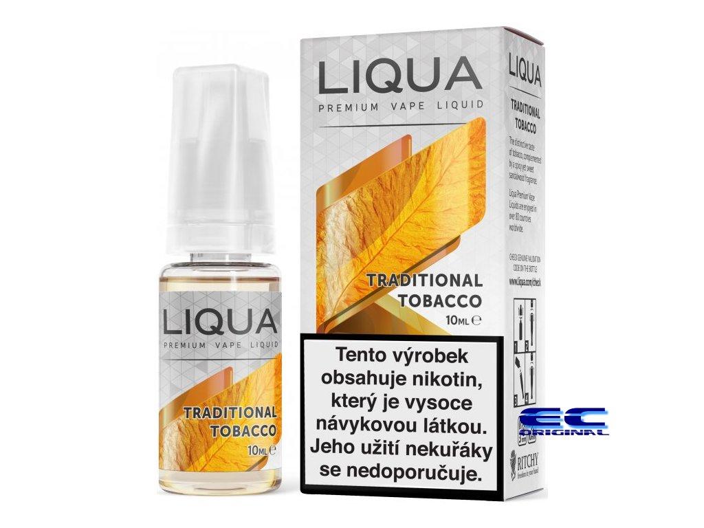 liquid liqua cz elements traditional tobacco 10ml12mg tradicni tabak.png