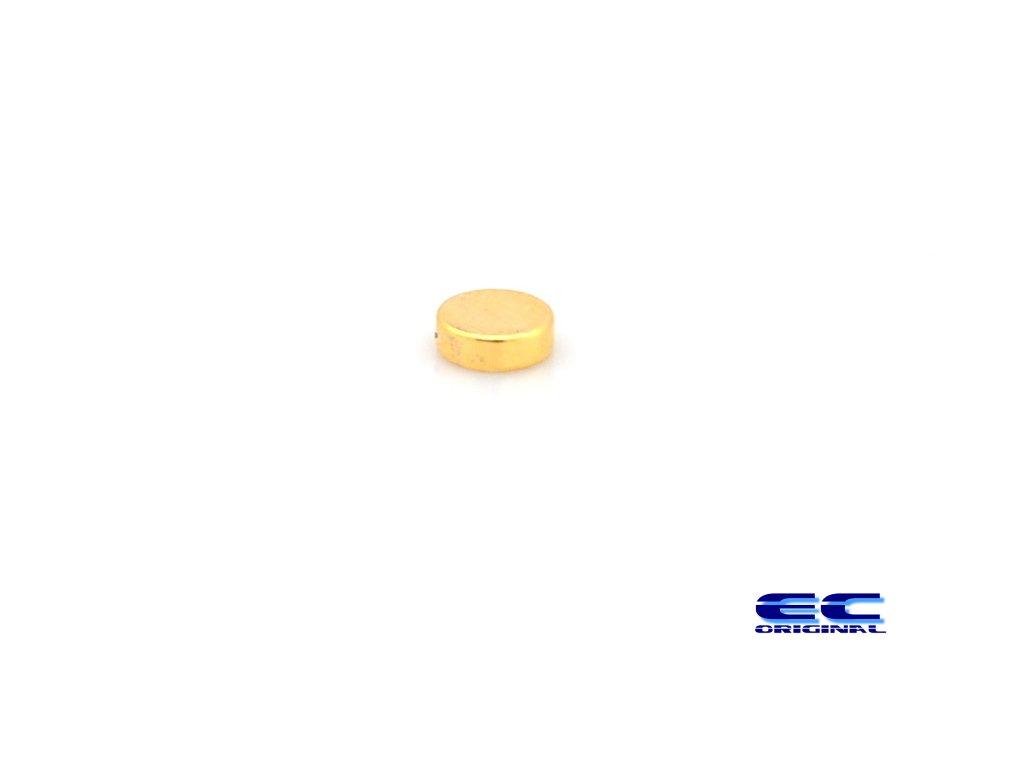 Magnet Neodymový 6x2mm pozlacený