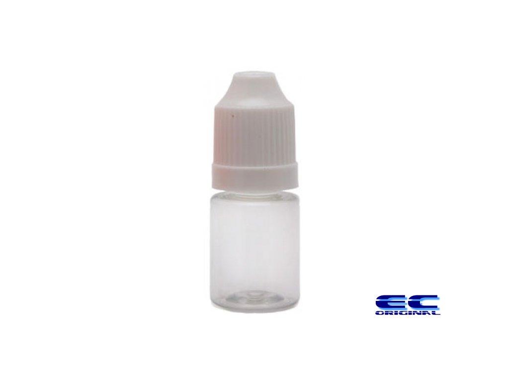 Prázdná lahvička s víčkem a kapátkem 5ml čirá