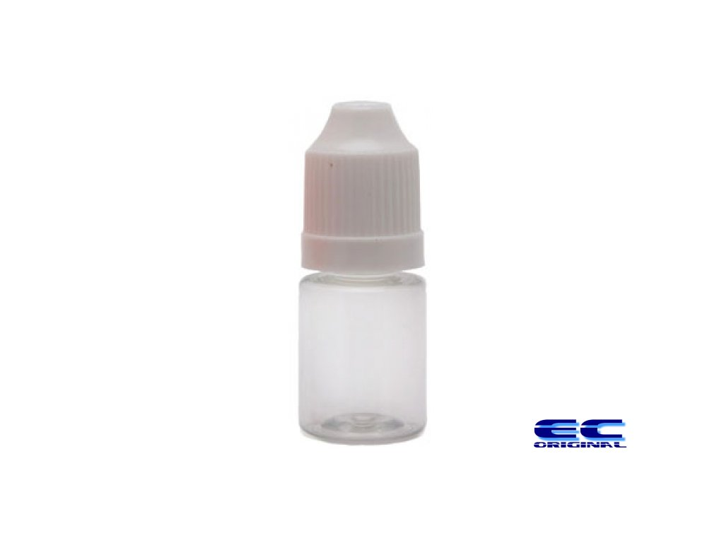 Prázdná lahvička s víčkem a kapátkem 5ml PE matná