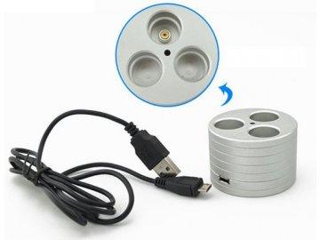 Stojánek na eGo cigarety s nabíječkou USB
