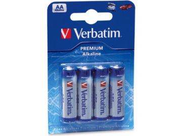 Baterie Verbatim Alkaline AA R6A, 1.5V, tužka (4pack)
