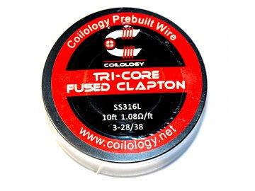 Coilology odporový drát Tri Core Fused Clapton, SS316L 3 28