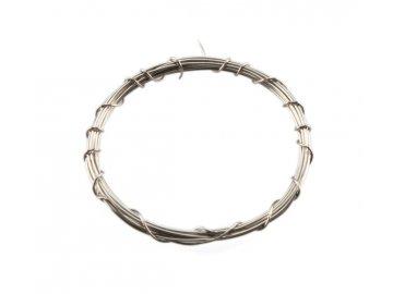 Drát stříbrný - bez odporový 1m
