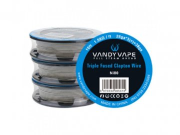 16496 vandy vapes triple fused clapton wire ni80 28awgx3 38awg