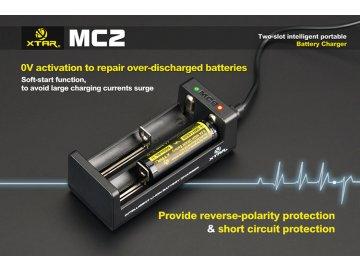 Xtar MC2 USB nabíječka dvouslotová pro Li-Ion/Mn
