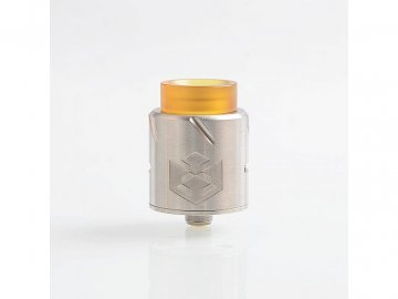 18596 authentic vandy vape paradox rda rebuildable dripping atomizer w bf pin silver stainless steel 24mm diameter