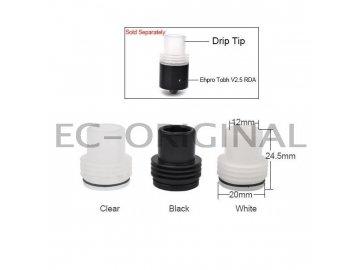 Typ A 22mm Plastový širokohrdlý drip tip pro RDA