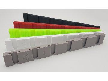 6 x Panel s T-drážkou PETG pro nástavce