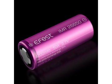Baterie Efest IMR 26650 - 4200mAh - fialová