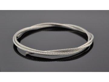 Ocelové lanko nerezová ocel - Stainless Steel Wire Rope 7x19 / 4,0mm