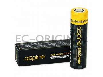 Baterie Aspire ICR 18650 2500mAh Li-ion - 20-40A
