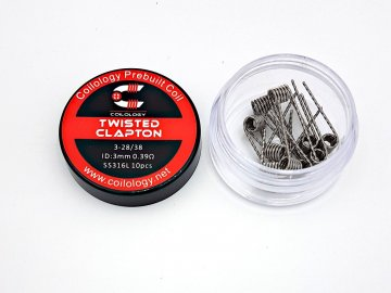 ss316l twisted clapton 0,39ohm