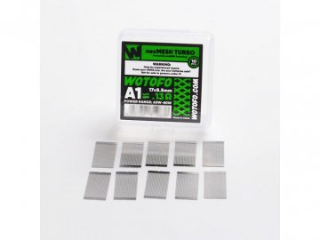 22262 authentic wotofo nexmesh turbo a1 prebuilt wire mesh sheet for profile 15 rda silver 013ohm 10 pcs