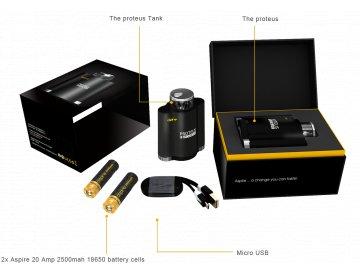 Aspire Proteus - elektronická vodnice SET