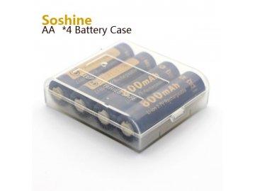 Pouzdro pro baterie 4x14500 Průhledné