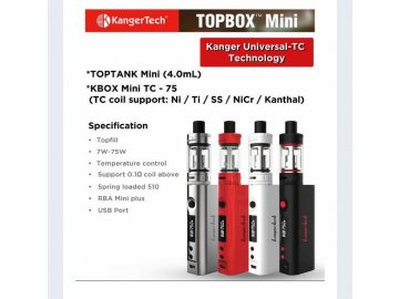Kangertech TOPBOX Mini TC 75W set