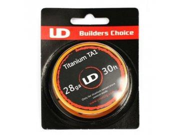 Drát Titanium Gr1 - UD 30ft Titanium TA1 28AWG