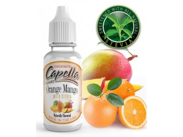 Pomeranč a mango (Orange Mango) + Stevia - Příchuť Capella Flavors