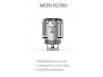 SMOK Micro R2 RBA Dual Coil hlava