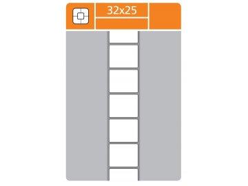 Etikety pro popis lahvicek 25x32mm 10ks samolepek