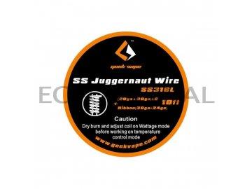 GeekVape SS Juggernaut Wire 10ft - 2x(28GA+38GA) + Ribbon(38GA+24GA)