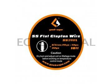 GeekVape SS Flat Clapton Wire 10ft - Ribbon (26GAx18GA) + 32GA