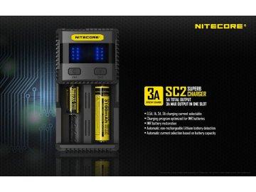 Nitecore SC2 - inteligentní nabíječka - 2 sloty