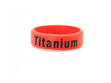 Dekorativní kroužek velký ( Titanium) červená
