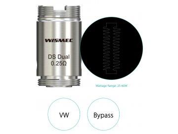Náhradní Žhavící hlava Wismec DS Dual Coil pro ORMA/Motiv