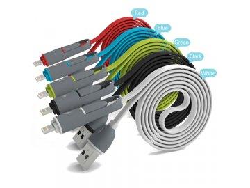 Micro USB a Lightning USB kabel 2v1 - Avatar