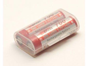 Pouzdro pro baterie 2x14500 Průhledné